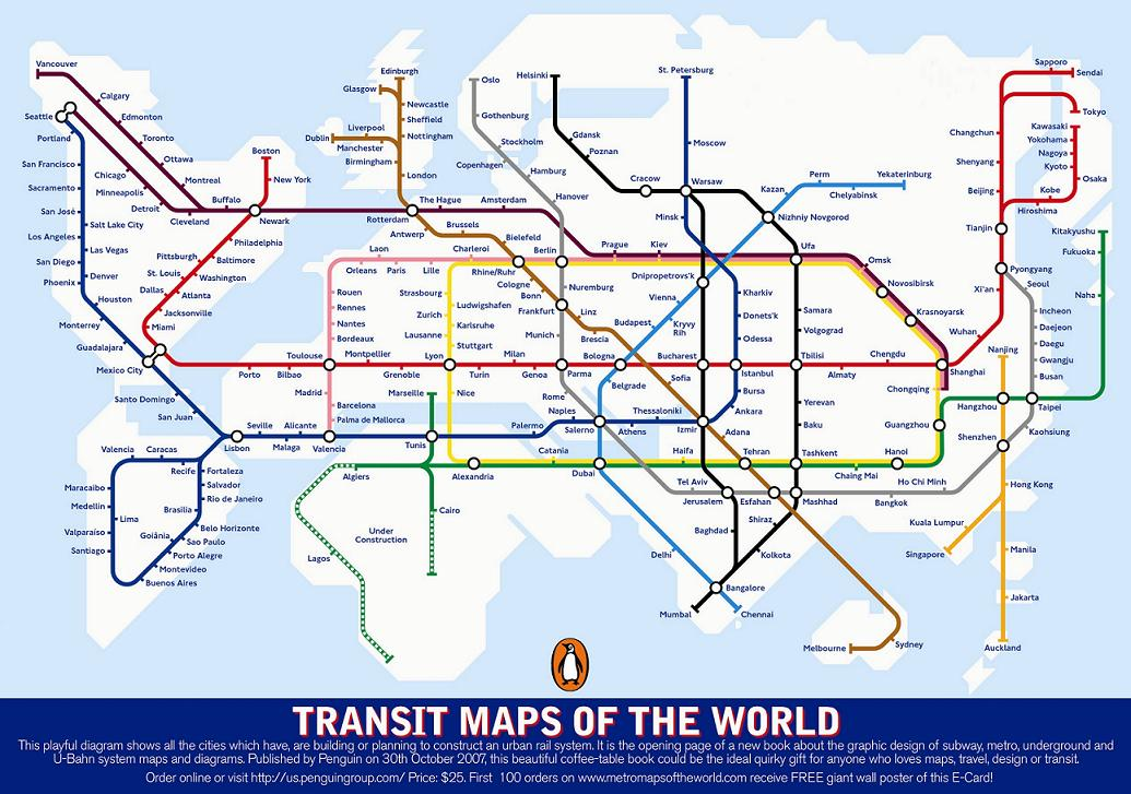 Transit Map of the World's Transit Systems